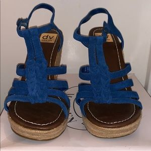 DV by Dolce Vita Beautiful Blue Wedges
